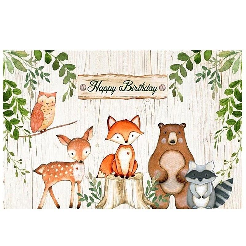 WPGJM лесной вечерние фон с изображением воздушного шара лесной вечерние сафари День рождения вечерние украшения Дети животных Лес вечерние ...
