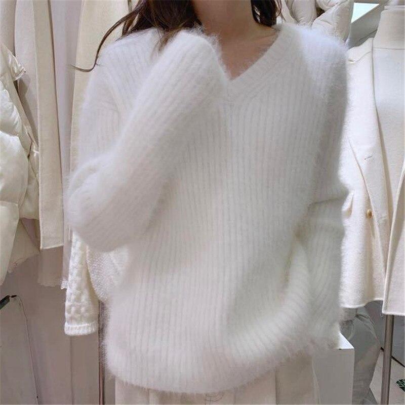 Ins/корейский стиль осенне зимний свитер элегантный модный кашемировый