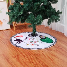 Christmas Tree Skirt Santa Claus White  Festival Party Supplies decoration supplies