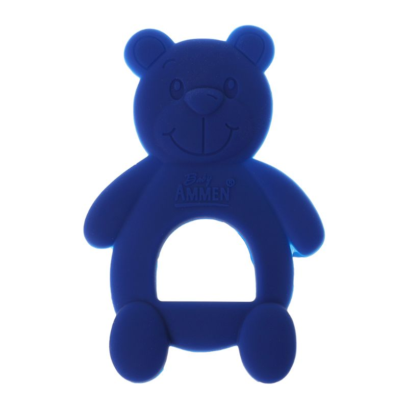 Baby Baby Teether Bear Cute DIY Necklace Teething Massage Pain Relief Pacifier Newborn Orthodontic Oral Care Infants Food Grade