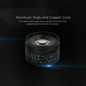 Image 5 - 7 handwerker 50mm F1.8 Manuelle Objektiv für Canon EOS M kamera A7 A7II A7R Sony E Mount Fuji FX makro MFT/M4/3 Montieren Kostenloser Versand