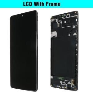 Image 4 - الأصلي AMOLED لسامسونج غالاكسي A71 LCD مع اللمس محول الأرقام الجمعية كاملة A715 A715F A715FD/S عرض 100% اختبارها