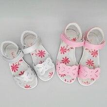 Sandals Orthopedic-Shoes Flower Girl Genuine-Leather Summer Children NEW 1pair
