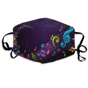 Моющиеся Многоразовые Красочные Музыкальные Примечания рот крышка маска респиратор зародыши Защитная теплая Ветрозащитная маска