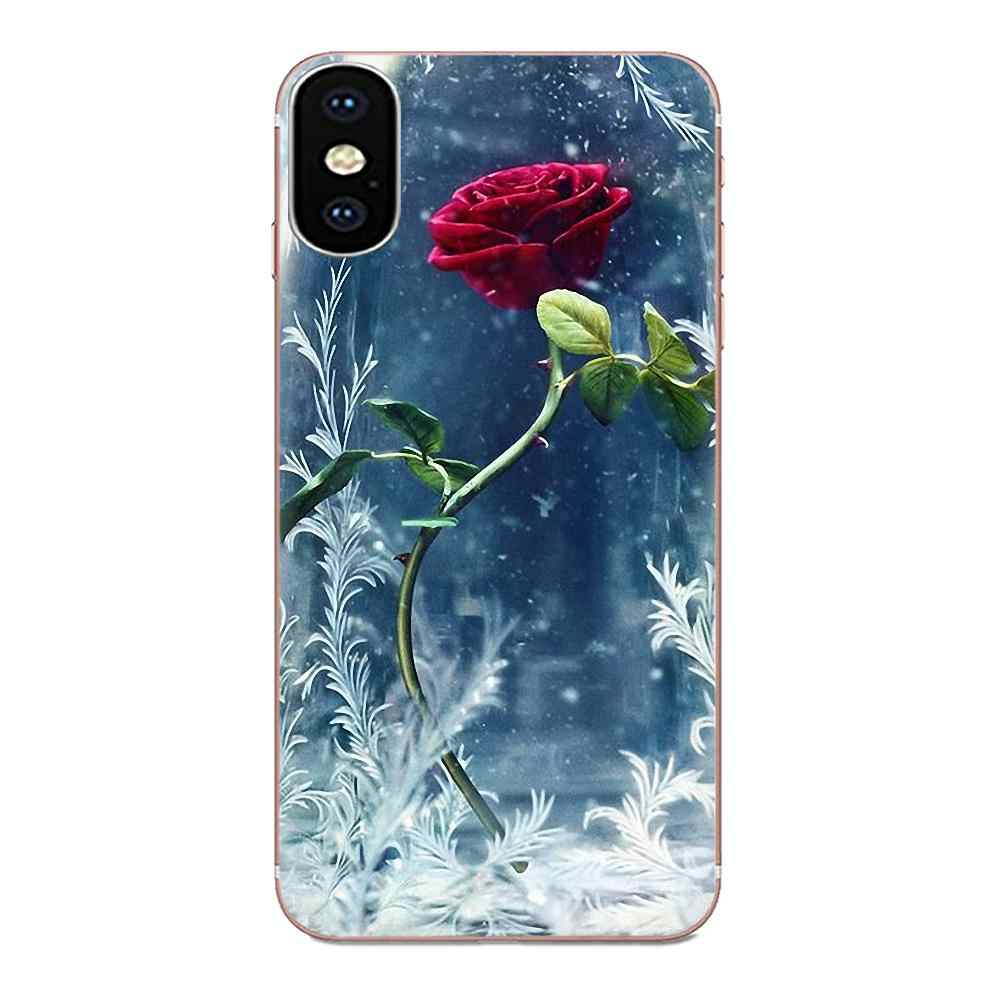 Bellezza Bestia Rose Per Xiaomi Redmi Mi 4 7A 9T K20 CC9 CC9e Nota 7 8 9 Y3 SE pro Prime Andare a Giocare Novità Fundas Trasparente Morbido