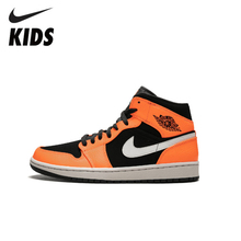 Nike Air Jordan 1 Original New Arrival Kids Shoes  Lightweight Children Basketball Comfortable Sports Sneakers #554724-062