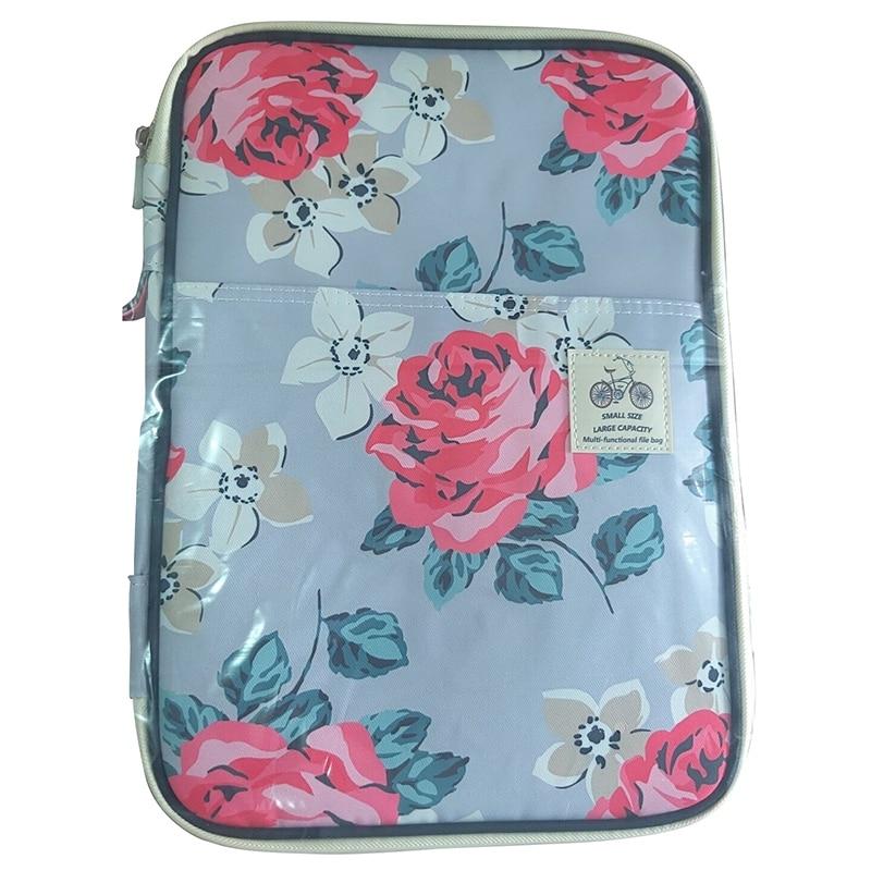 A4 File Folder Document Bag Multifunctional Business Briefcase Paper Storage Organizer Bag Stationery School Office