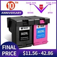 302xl QSYRAINBOW Cor Preta Compatível para HP 302 XL Cartucho de Tinta Para Impressora HP Deskjet 2130 ENVY 4520 Officejet 4650 Deskjet 3630