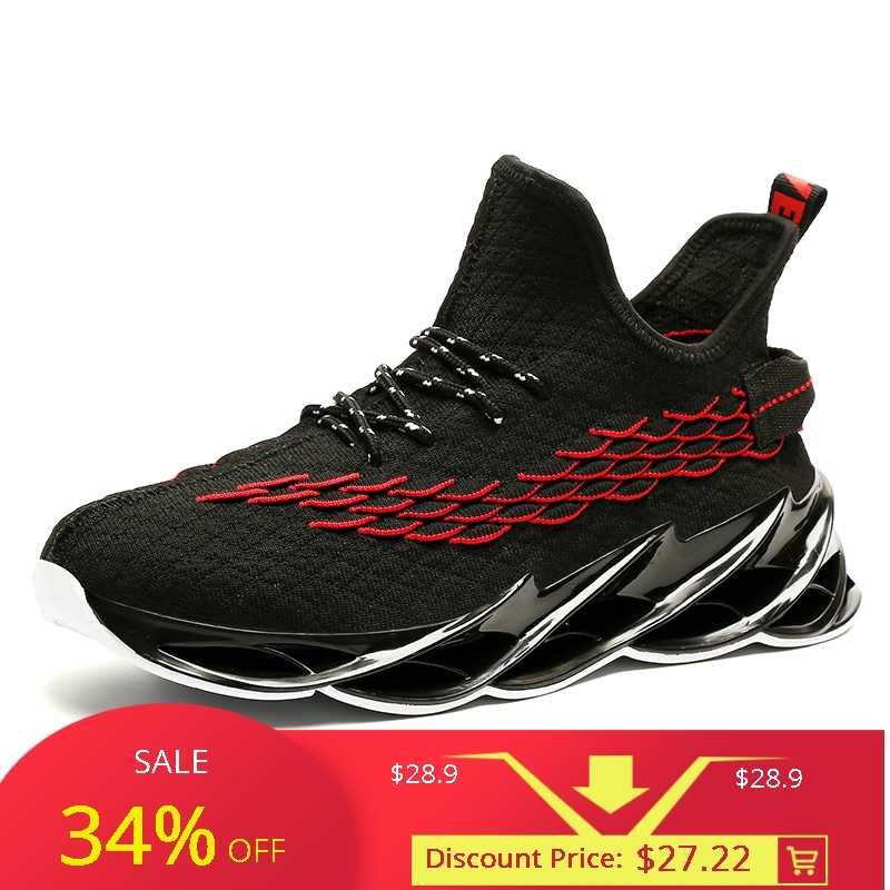 Новинка 2019, мужские кроссовки для бега, бега, прогулок, спорта, высокое качество, на шнуровке, дышащие кроссовки