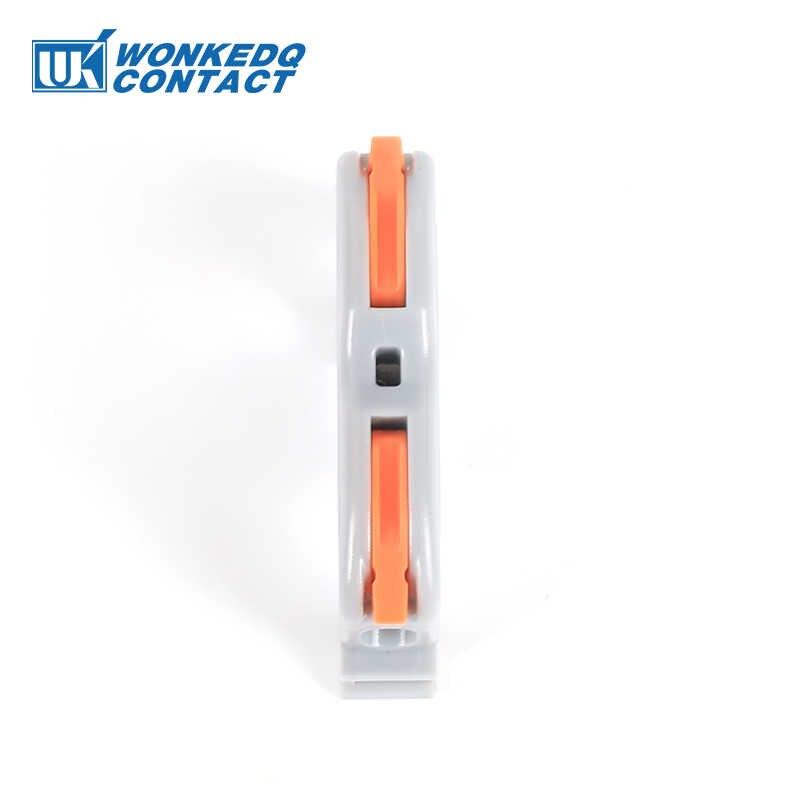 Din Schiene Draht Stecker Terminal Block PCT-211 Schnelle Verdrahtung Kompakte Spleißen Leiter Schnelle Kabel Stecker Leiter 10 stücke
