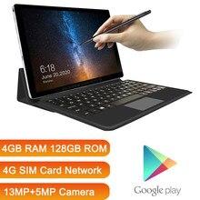 K20 Pro – tablette 2 en 1 avec clavier, 2021 go de ROM, réseau SIM 4G, Android, 128 pouces, GPS, 4 go de RAM, mise à jour 11.6