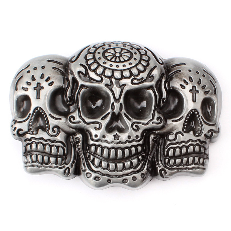 Devil Mold Skull Skeleton Belt Buckle Belt DIY Accessories Western Cowboy Style Smooth Belt Buckle Punk Rock Style