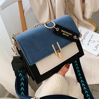Modne torby dla kobiet Crossbody torba torba na ramię Fanni torebki torebki projektant mała torebka Crossbody 2020 luksusowa torebka tanie i dobre opinie Homemari FLAP CN (pochodzenie) POLIESTER WOMEN PANELOWANA Versatile HSN-9217 Otwór na wyjście Kieszonka na telefo Łańcuszki