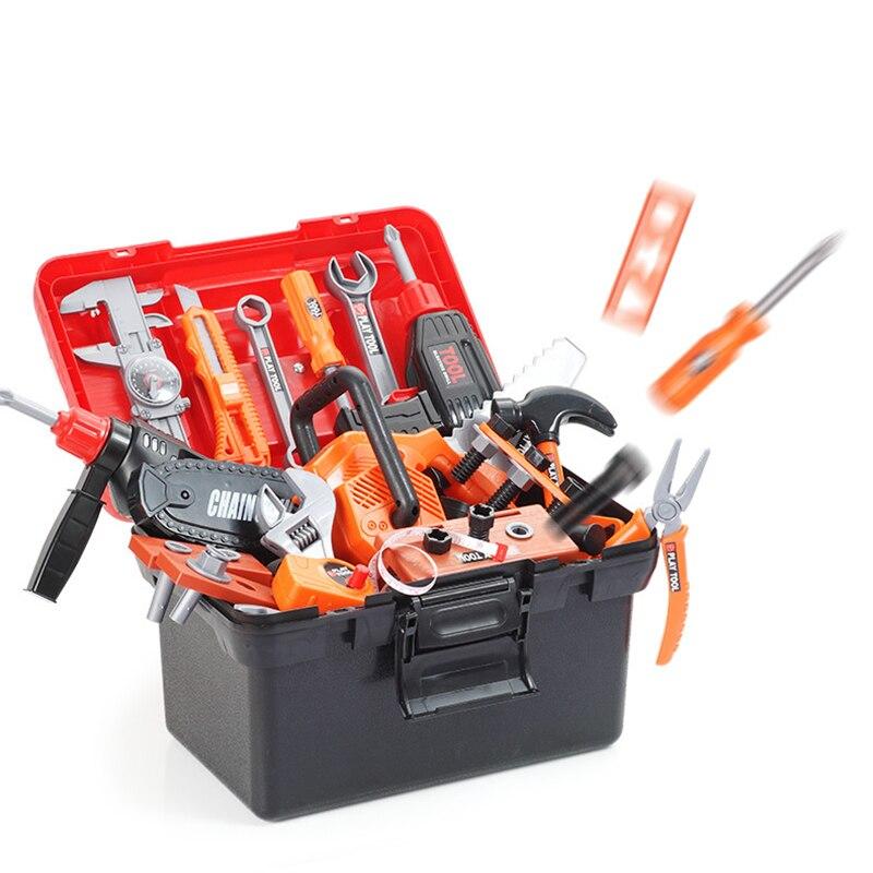 simulacao kit de reparacao simulacao broca eletrica chave de fenda menino jogar casa brinquedo conjunto simulacao