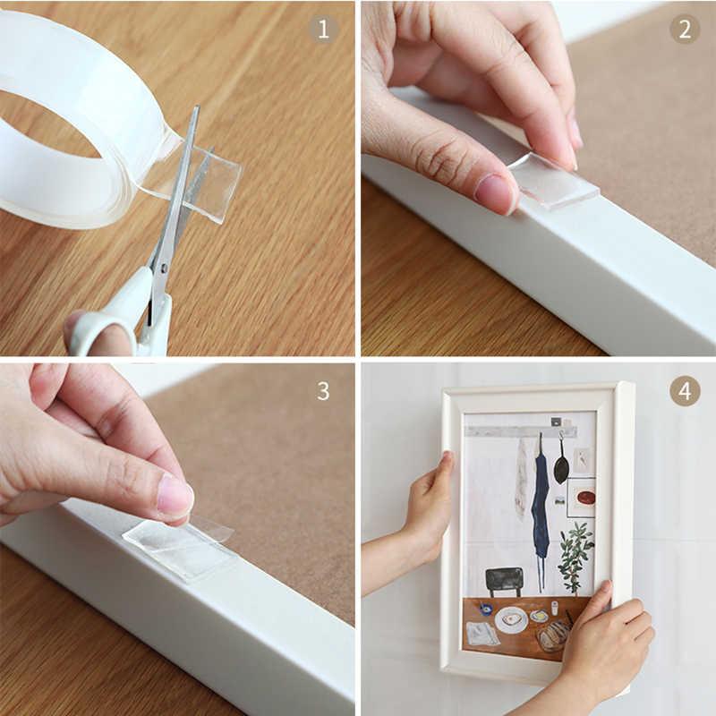 Magic Nano Tape lavable reutilizable cinta de doble cara pasta sin costuras extraíble pegamento limpio Hogar Universal gancho de almacenamiento