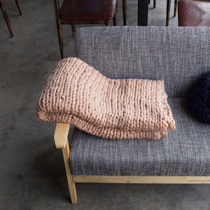 Image 4 - 200*200cm szybki transport moda masywny koc z dzianiny gruba przędza wielkogabarytowe Knitting rzuć koce Sofa rzuć