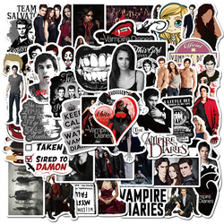 10/50pcs American Fantasy TV Series The Vampire Diaries Stickers for DIY Toy Luggage Laptop Skateboard Scrapbook Mobile Phone