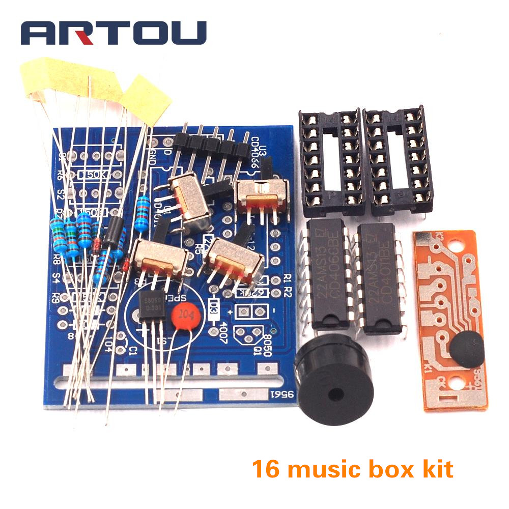 16 Music Box 16 Sound Box 16-Tone Box BOX-16 Electronic Module DIY Kits