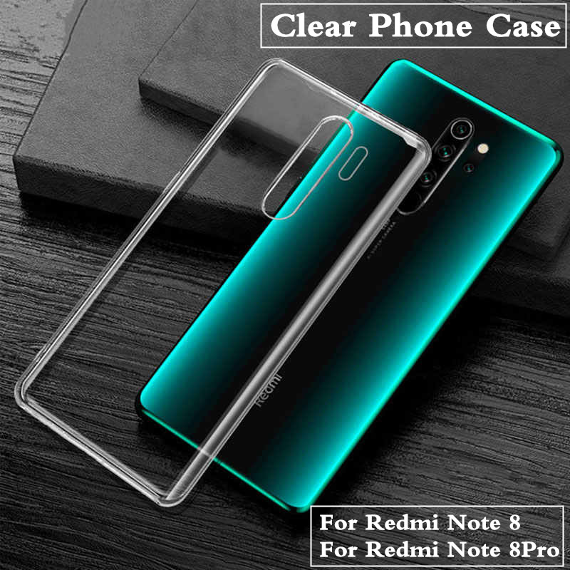 Crystal Transparent Phone Case For Xiaomi Redmi Note 8 Pro 4X 4A K20 Note 7 4 5 6A 6 5A Ultra Thin Silicone Soft TPU Cover Capa