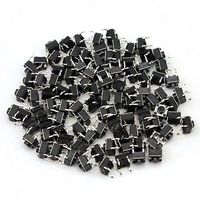 30Pcs Tacle Button Switch Tact Switch 6X6X5mm 4-pin DIP Electronic Product Accessories Compatible Module