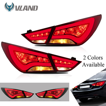 VLAND car accessories LED Tail lights Assembly for HYUNDAI SONATA 2011-2014 Tail Lamp with LED Turn Signal Reverse DRL Lights