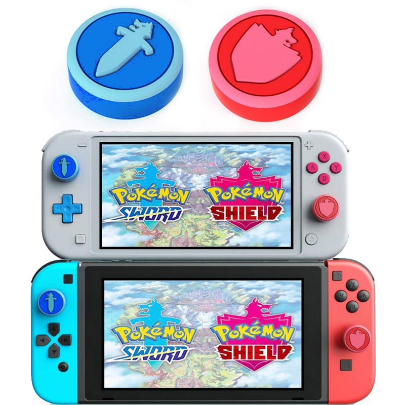 Thumb Stick Grip Cap Joystick Cover For Pokemon Sword/Shield Nintend Switch Lite NS Joy-Con Controller Gamepad Thumbstick Case