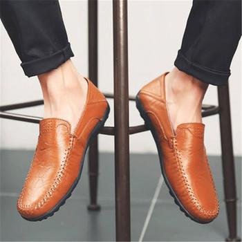 Pu oryginalne skórzane buty męskie luksusowe marki 2020 wygodne wsuwane formalne mokasyny męskie mokasyny włoskie czarne męskie buty do jazdy samochodem nowe tanie i dobre opinie SIKETU RUBBER XX370 Slip-on Pasuje mniejszy niż zwykle proszę sprawdzić ten sklep jest dobór informacji Stałe Oddychające