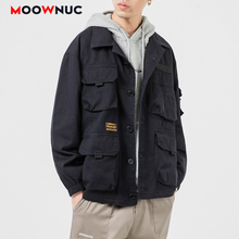 Hombre Denim Coats 2020 MOOWNUC Outerwear Hip Hop Jackets Kpop Fashion Loose Solid  Men's Clothes Spring Dress Boys Casual MWC