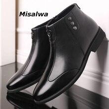 Boots Military Sneaker High-Top Misalwa Zipper Black Autumn Big-Size Men's Warm Ankle