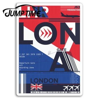 Jump Time for London Heathrow Airport Vinyl Stickers Sticker Laptop Luggage Bumper Trunk Window Decal Car Accessories image