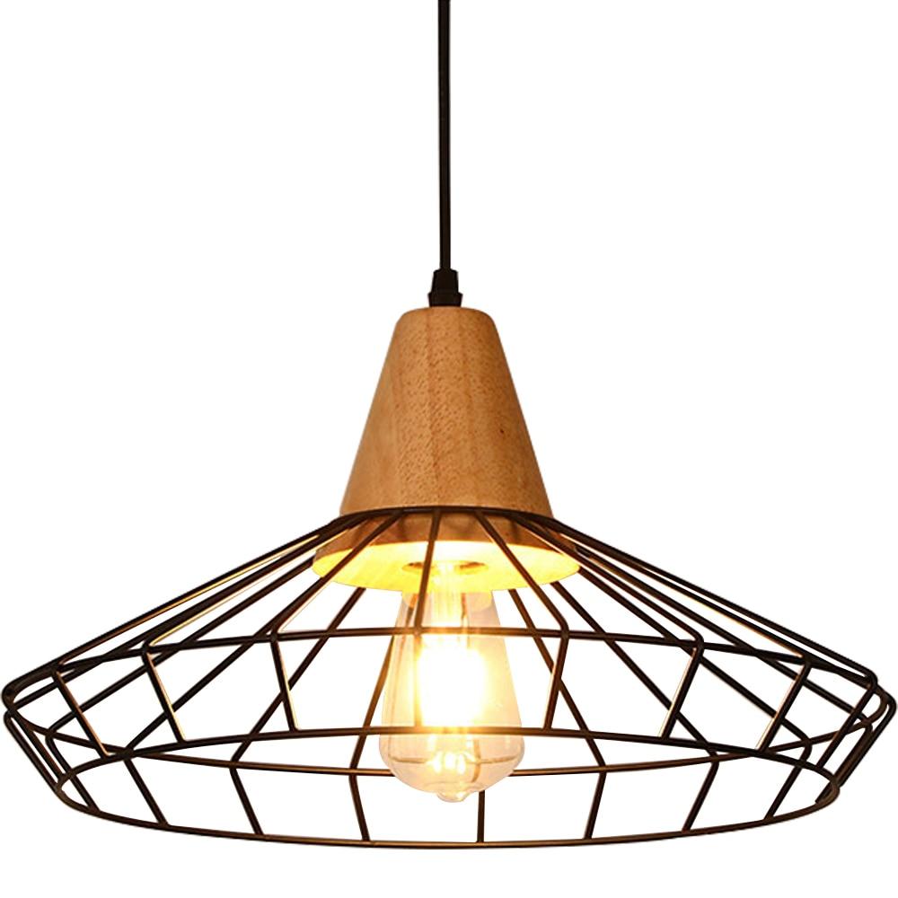 Lamp Retro Restaurant Iron Metal Chandelier Vintage Industrial Pendant Lantern Black E27 Edison Iron Pendant Pendant Lamp (No Bu