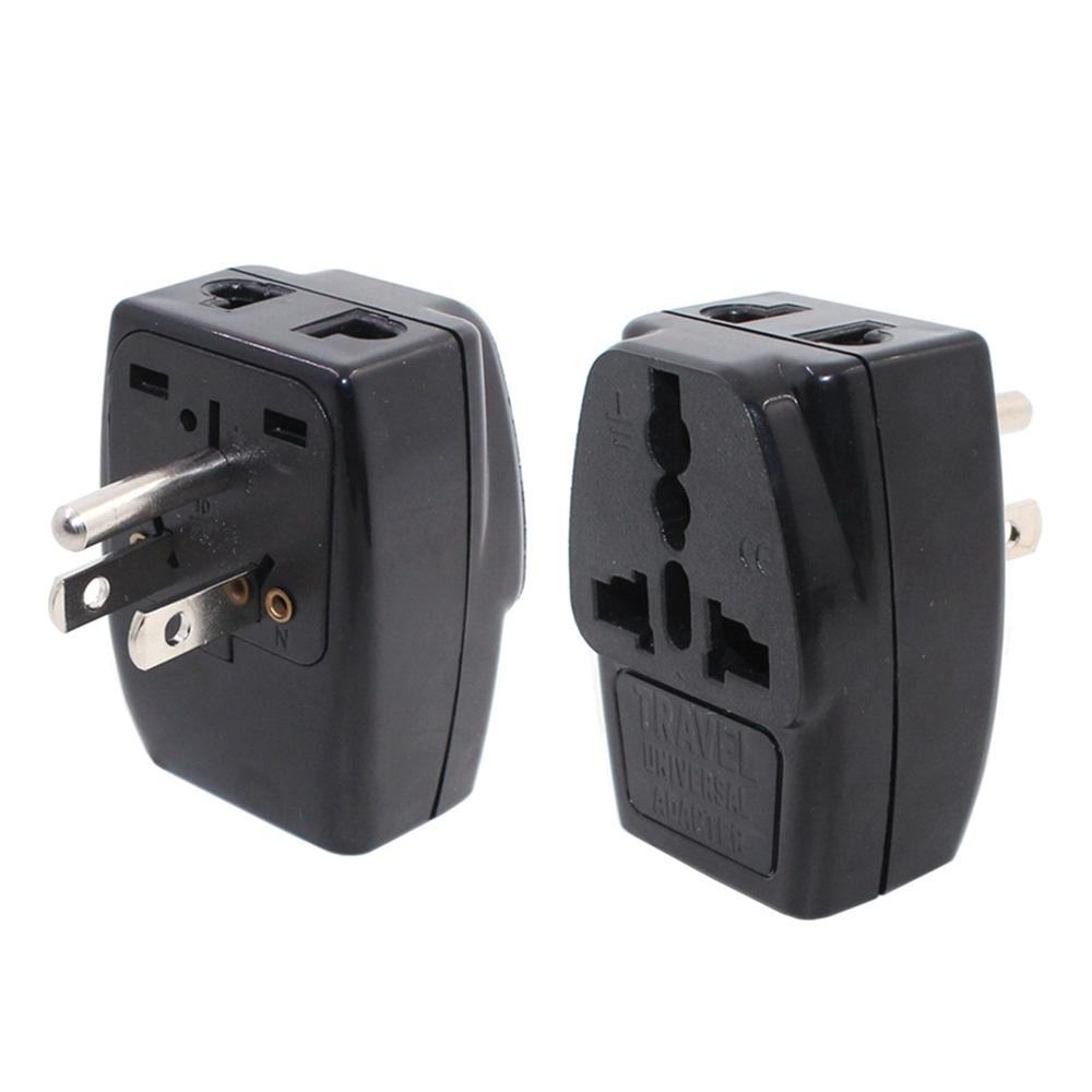 US Travel Adapter Univesal EU AU UK India To USA Japan Canada Philippines Thailand Taiwan Grounded Plug 2 In 1 Aapter Type B