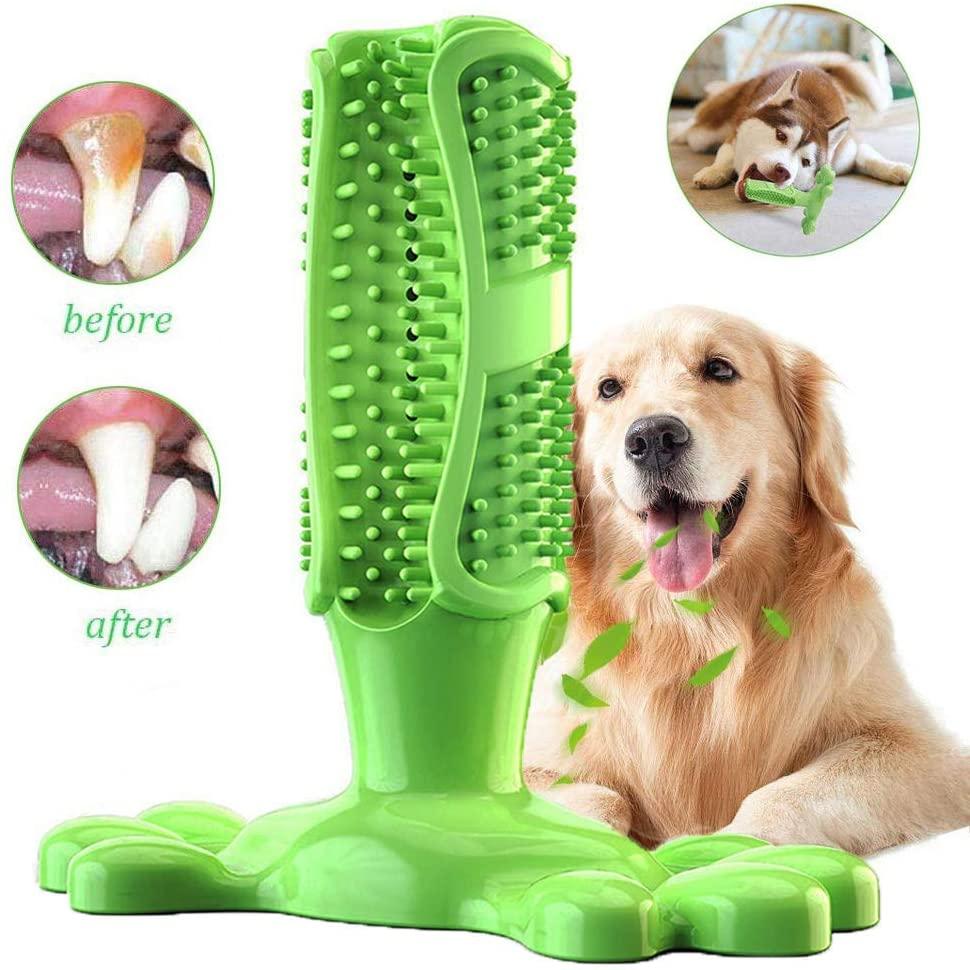 Chien brosse à dents bâton chien mâcher dent nettoyant chiot soins dentaires brossage bâton en caoutchouc naturel morsure résistant jouets à mâcher pour chiens Pe
