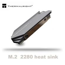 Thermalright 방열판 열 알루미늄 M.2 냉각 냉각기 방열판 NGFF NVME PCIE 2280 SSD 하드 드라이브 디스크 용 열 패드