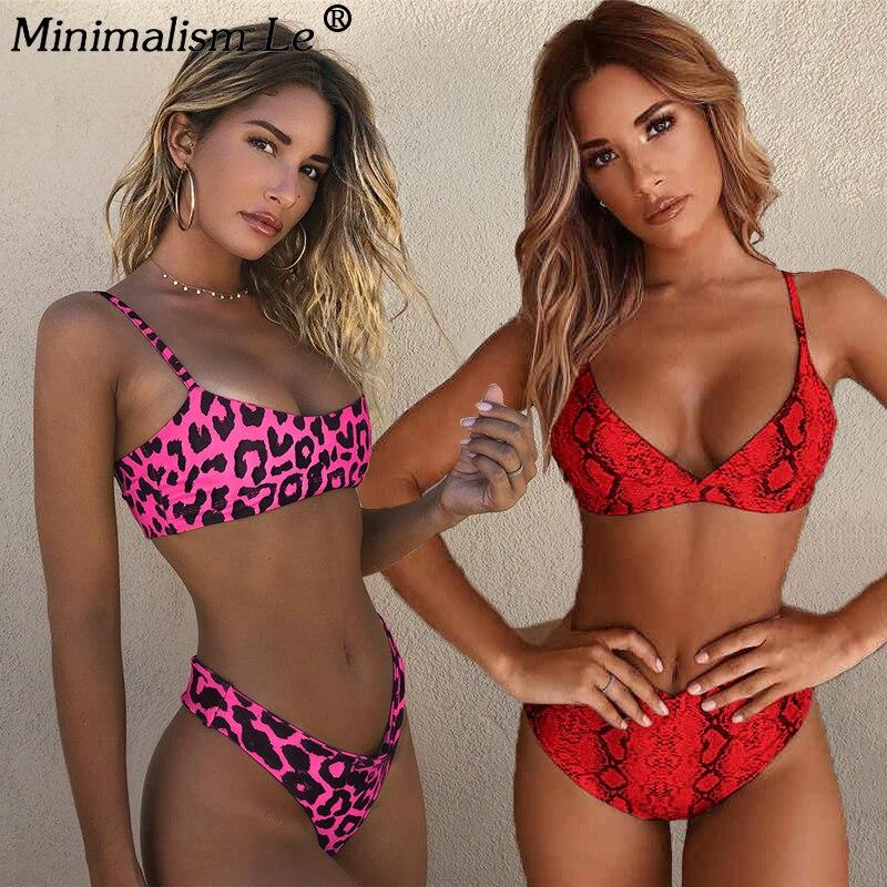 Sexy Leopard Print Bikinis Women Bikini Set Swimsuit High Cut Bathing Suit Swimwear Female Summer Brazilian Beachwear Biquini