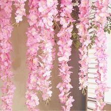 Yeni varış yapay çiçek dize el yapımı asılı düğün parti ev duvar dekorasyon rüya yapay çiçek s yüksek kalite