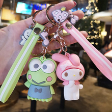 Cartoon Pudding Dog Keychain Melody Big Eye Frog Key chain Pendant for Men's And Women's Wallets Creative Gifts For Children цены