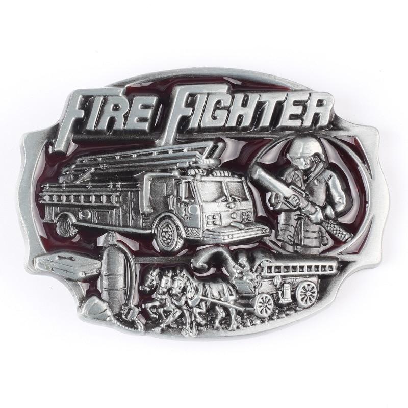 Fireman  fighter Belt buckle Belt DIY Components homemade handmade belt Accessories Fire truck waistband buckle