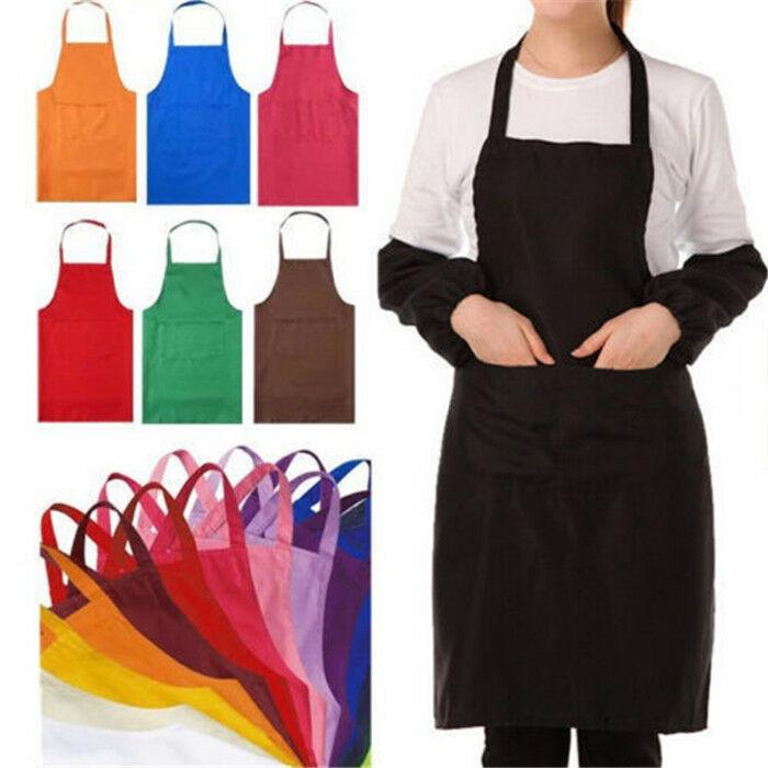 Thicken Cotton Blend Sleeveless Apron Anti-wear Cooking Kitchen Bib Women Men Aprons With Pocket