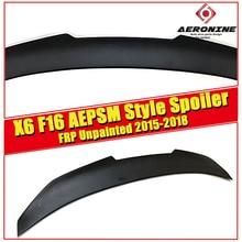 X6 F16 sedan duckbill tail True FRP Unpainted PSM style For BMW X series  wing Lip rear trunk spoiler Car Styling 2015-2018