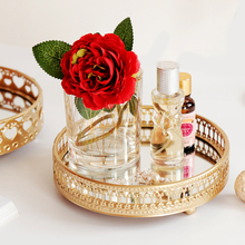 Storage-Tray Glass-Mirror-Base Cosmetic-Decoration Finishing-Plate Desktop Bedroom Jjewelry