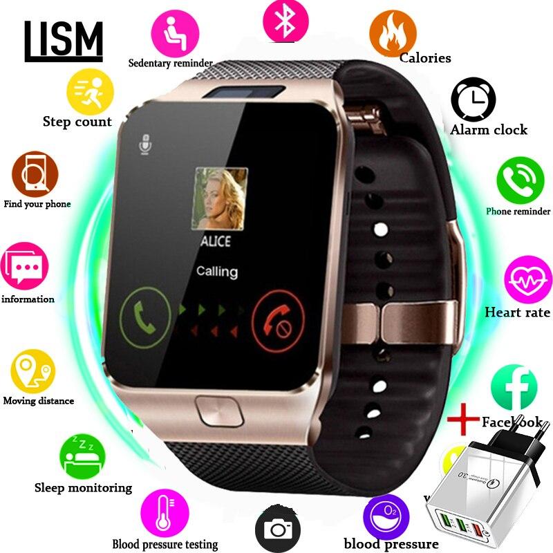 Relógio inteligente homem para crianças smartwatch feminino android bluetooth relógio com chamada de música fotografia sim tf cartão reloj inteligente