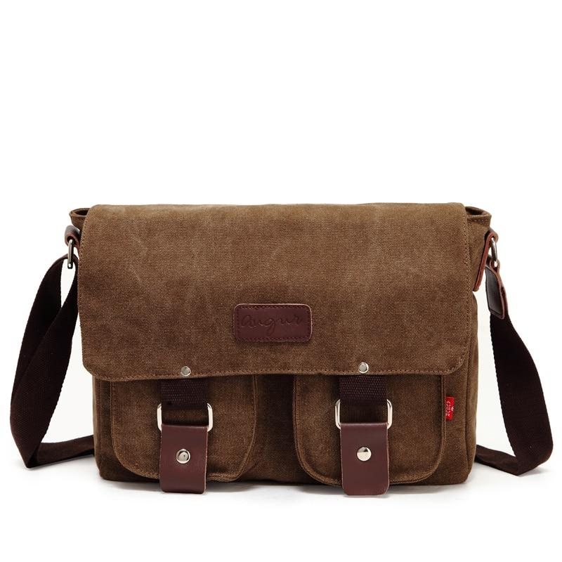 Men Canvas Crossbody Bags Single Shoulder Bags Travel Casual Handbags Message Bags Solid Zipper Schoolbags For Teenagers Boy