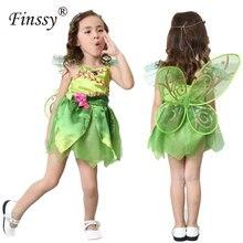 Papillon fleur fée Cosplay déguisement fille Halloween carnaval Festival fête Performance robe y compris ailes guirlandes