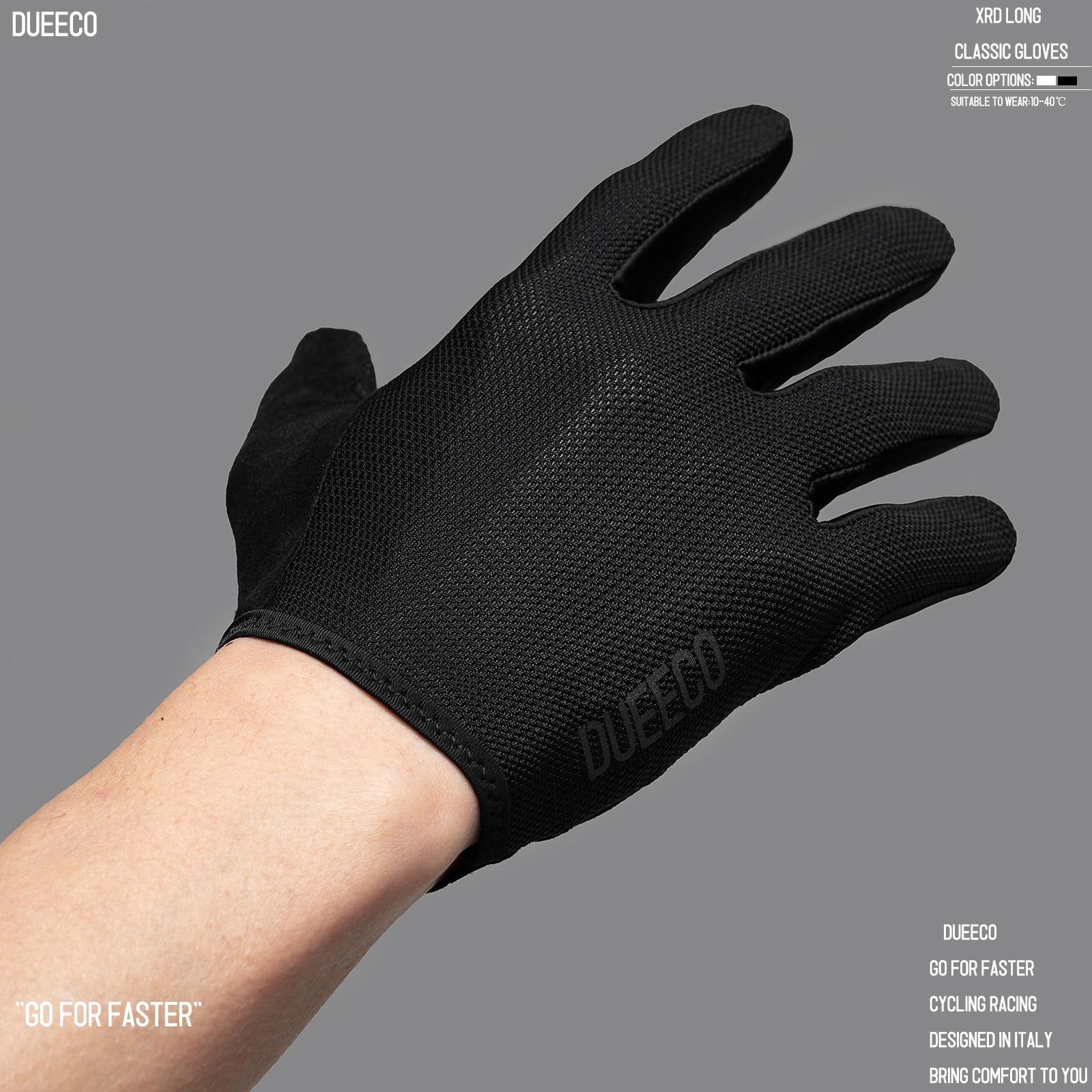 Luvas de ciclismo dueeco, luvas de bicicleta, luvas de bicicleta-dedo completo mtb mx luvas xrd almofada de absorção de choque design de tela de toque antiderrapante