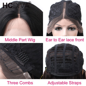 Image 5 - Middle Part 28inch Human Hair Wigs For Women 13*1 Lace Part Wig Glueless 150% Brazilian Body Wave Human Hair Lace Wig Remy Hair