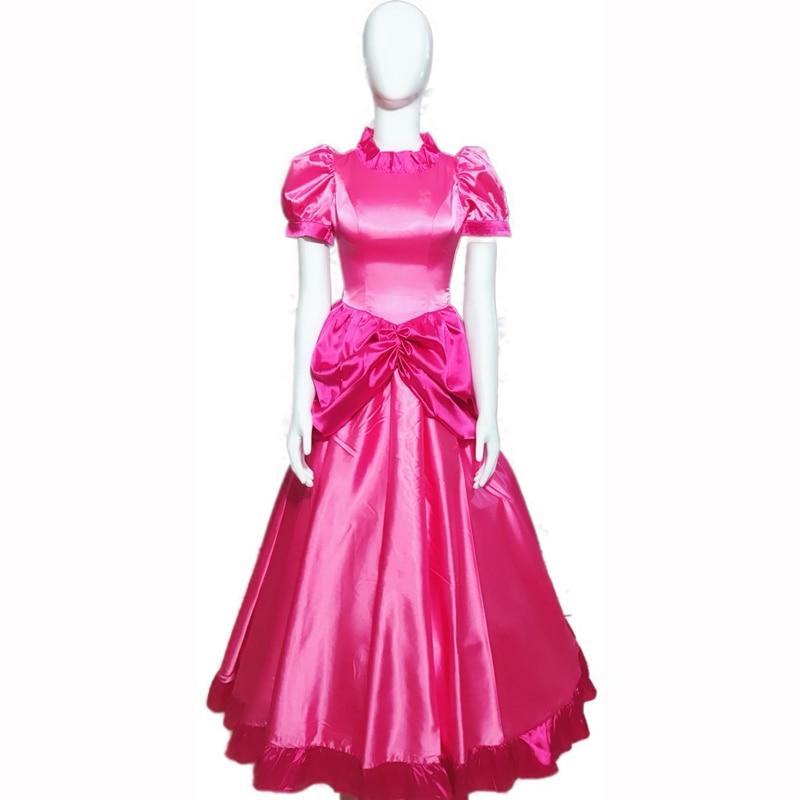 Prinzessin Pfirsich Kleid Cosplay Kostüm Halloween Kostüm Kleid rosa kleid Nach Maß