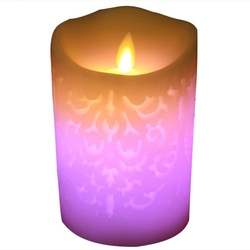 1 sztuk zmienia kolor gradientu świece led pilot elektroniczny bezpłomieniową oddychanie świeca noc światła Wedding Party Decoratio na