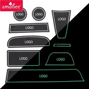 Image 5 - Smabee 抗パッドカーアクセサリーカップマットのための Lada グランタインテリアノンスリップマットアクセサリードアパッド 9 個/16 個カースタイリングステッカー