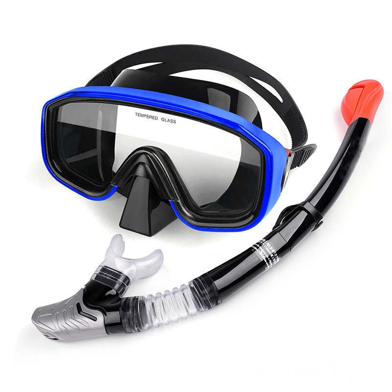 New Diving Swimming Mask Scuba Snorkel Goggles Face Glasses with Breath Tube